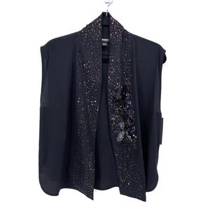 DKNY Silk Sequin Fancy Cocktail Party Coverup